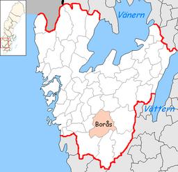 Borås Municipality in Västra Götaland County.png