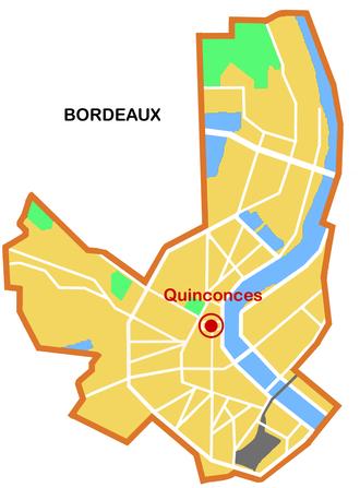 Station Quinconces (Tram de Bordeaux) - Location in Bordeaux