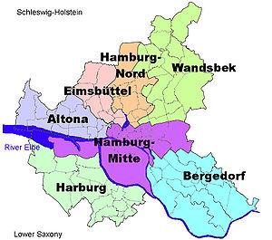 Harburg, Hamburg - Image: Boroughs of Hamburg