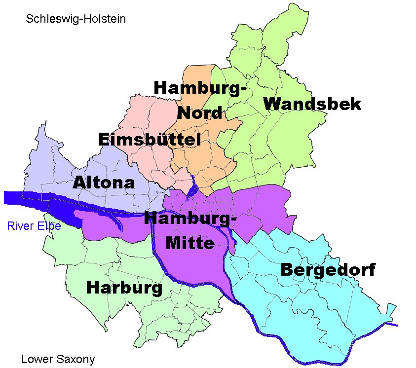 Boroughs of Hamburg