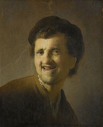 Rembrandt: Bust of a laughing young man