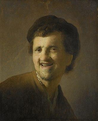 Rembrandt catalog raisonné, 1935 - Image: Borstbeeld van een lachende jonge man Rijksmuseum SK A 3934