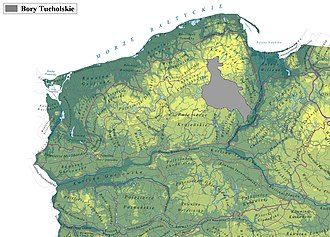 Tuchola Forest - Location within northern Poland