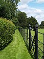 Boundary fence and gate at Brodsworth Hall. - geograph.org.uk - 507841.jpg