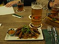 Bratwurst, sauerkraut and beer at restaurant Rymy-Eetu.jpg