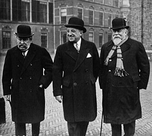 Henry Chéron - Briand, Tardieu and Chéron at the Hague Conference in 1930