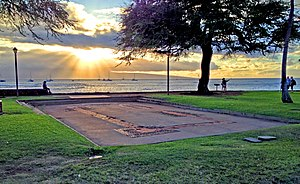 Brick Palace - The remaining foundations of Kamehameha's Brick Palace were excavated in 1964 and can be seen in Lahaina, Maui.