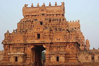 Chola dynasty - Brihadeeswara Temple Entrance Gopurams, Thanjavur