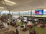 Brisbane International Terminal departure hall in March 2019.jpg