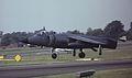 British Aerospace Sea Harrier FRS1 ZD610 - 711 Royal Navy, Farnborough UK, September 1988. (5589378951).jpg