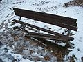 Broken bench Briant Pond Park Summit NJ 2009.jpg
