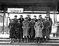 Bronisław Czech Andrzej Marusarz Stanisław Marusarz Izydor Gąsienica-Łuszczek Kraków dworzec 1935 1-M-1466-1.jpeg