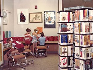 Brookdale Library - Teen area at Brookdale Library, 1980.