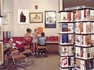 Brookdale Library - Teen area at Brookdale Library, 1980