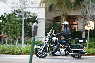 Broward County Sheriff's Office - Motorcycle patrol in Lauderdale-by-the-Sea