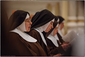 Capuchin Poor Clares - Brown habit, black veil, white wimple