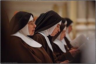 Capuchin Poor Clares - Brown habit, black veil, white wimple
