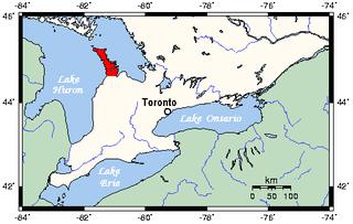 peninsula in Southern Ontario, Canada