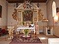 Brudzawy - Ołtarz główny barokowy z IVIII wieku . Kościół p.w Św Andrzeja Apostoła - panoramio.jpg