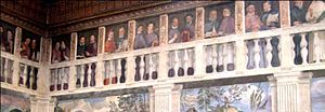 Roman Catholic Diocese of Verona - A series of portraits by Domenico Riccio of the bishops of Verona, from Euprepius to Cardinal Agostino Valerio. Palazzo del Vescovado di Verona.