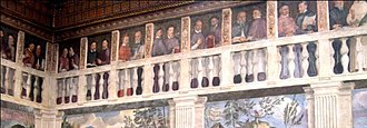 Roman Catholic Diocese of Verona - A series of portraits by Domenico Riccio of the bishops of Verona, from Euprepius to Cardinal Agostino Valerio. Palazzo del Vescovado di Verona.