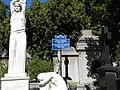 Bucuresti, Romania, Cimitirul Bellu Ortodox - Serban Voda (Mormantul lui Costin D. Nenitescu) (detaliu).JPG
