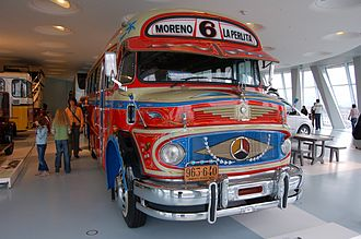 """Colectivo - Lots of character classic """"short snout"""" 1969 MB LO1112 colectivo at the Mercedes-Benz Museum in Stuttgart."""