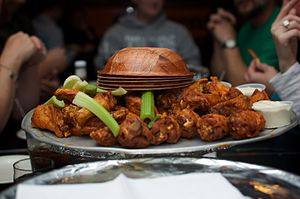 Cuisine of the Mid-Atlantic states - A bowl of Buffalo wings