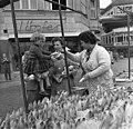 Bundesarchiv B 145 Bild-F011175-0006, Bonn, Flüchtlingsfamilie auf dem Markt.jpg