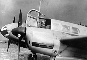 Twin engined propeller aircraft