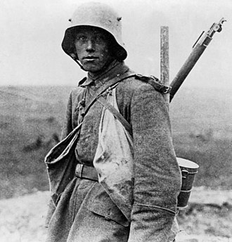 Western Front (World War I) - German soldier on the Western Front in 1916