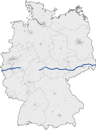 Bundesautobahn 4 - Image: Bundesautobahn 4 map