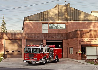 Burbank Fire Station 12 Burbank Fire Station 12 and engine 2015-01-25.jpg