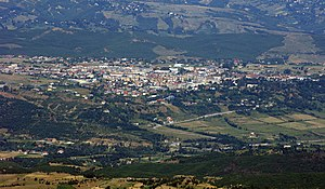 Burrel, Albania - Image: Burrel from Distance