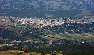 Dibër County - The city of Burrel from the south.