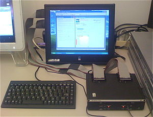 Bus analyzer - A typical bus analyzer: this one has an adaptor pod to allow it to interface to Serial ATA devices.