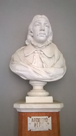 "Agostino Nifo - Bust of Agostino Nifo (Liceo classico ""Agostino Nifo"", Sessa Aurunca)"