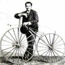 C.1868 Ernest Michaux and Michaudine velocipede invented in 1861.png