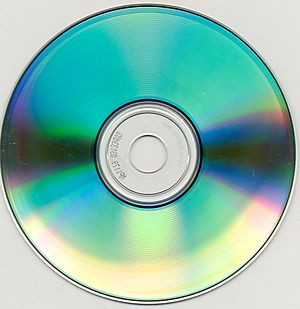 CD-R - An example of a CD-R burned in 2000 showing dye degradation in 2008. Part of the data on it has been lost.