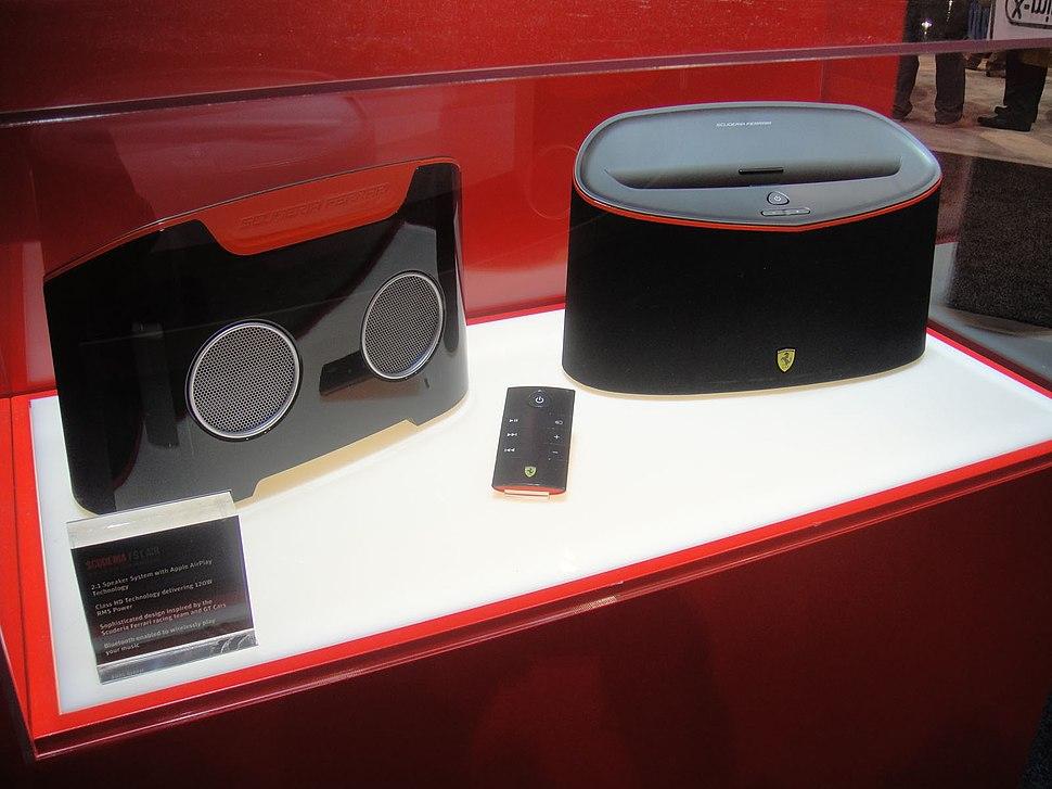 CES 2012 - Ferrari Scuderia FS1 Air speakers (6791380344)