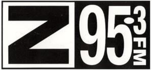 CKZZ-FM - Original Z 95.3 logo, 1991-1996