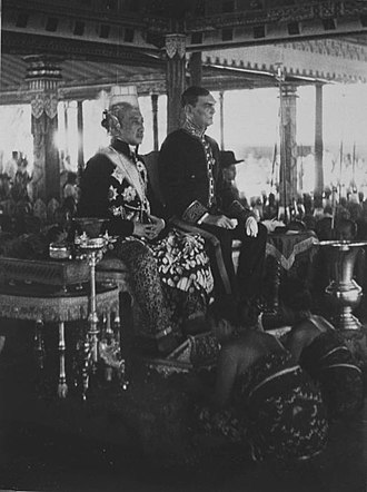 Western imperialism in Asia - The Dutch Governor-General, highest authority in the colony and the Sultan of Jogjakarta.