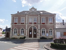 The town hall of Caillouël-Crépigny