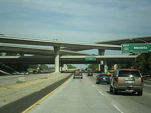 California State Route 41 - Northbound on Route 41 in Fresno at the Route 180 interchange