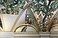 Camillo mantovano, volta della sala a fogliami di palazzo grimani, 1560-65 ca., lunette con grottesche e rebus allusivi al processo per eresia di giovanni grimani 06 falco.jpg