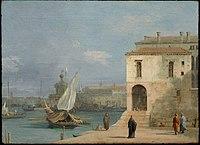 Canaletto (Giovanni Antonio Canal) - Fonteghetto della Farina, Venice - 55.1106 - Museum of Fine Arts.jpg