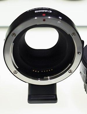 Canon EF-M lens mount - Image: Canon EF EF M Converter