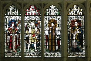 William Laud - Stained glass windows in the Chapter House, Canterbury Cathedral, depicting Henry IV, Henry VIII, Thomas Cranmer and Laud
