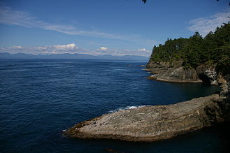 Cape Flattery - Cape Flattery, looking north towards Vancouver Island.