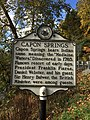 Capon Springs Historical Marker Capon Lake WV 2014 10 05 02.jpg